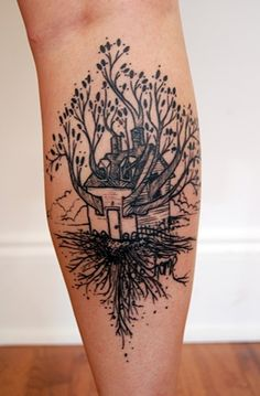 This is a tattoo i found. But this is a picture of how i see my own heart. I am a tree. I am a house.