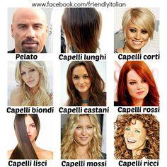 Come sono i vostri capelli? #vocabulary #italian #italianvocabulary #learn…