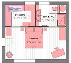 Plan chambre parentale