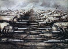 'Alien' artist H.R. Giger Dune Art, Jodorowsky's Dune, Giger Alien, Vladimir Kush, Aliens Movie, Concept Ships, Concept Art, Sci Fi Films, Fantastic Art