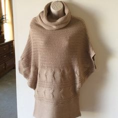 """Say What! Tan sweater.   SUPER SALE Beautiful tan chunky knit sweater.  Measures 30"""" from shoulder to bottom hem.  Two tiny pullers that I fixed and are not visible. Say What! Sweaters Cowl & Turtlenecks"""