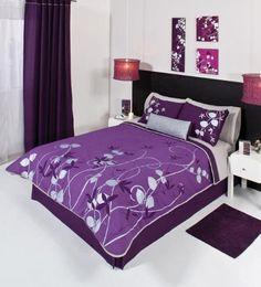 Purple Teen Bedding   Purple Silver Gray Comforter Bedding Set Twin 4 Pcs