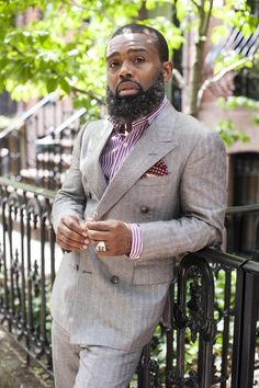 The Black Gentleman - Suits Sharp Dressed Man, Well Dressed Men, Look Fashion, Mens Fashion, Beard Fashion, Urban Fashion, Fashion Outfits, Hipster, Beard Gang