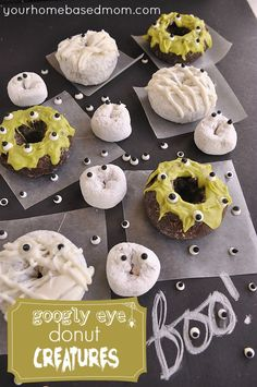 Googly Eye Donuts}Ghosts, Mummies & Monsters! #halloween