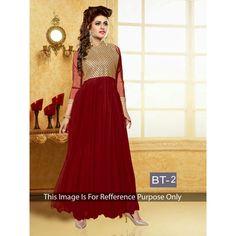 Diwali Special Designer Maroon Multi Work Georgette Anarkali Suit -RDHP172-BT2(RD-RDHP172)