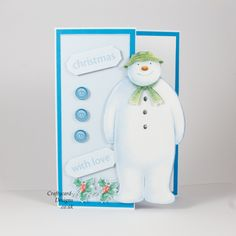 Handmade Card : This Christmas card has been made using Crafter's Companion The Snowman.
