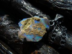 ON SALE raw fire opal necklace gemstone necklace fire by BeijoFlor, $71.40