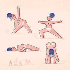 Yoga - justyna stasik illustration