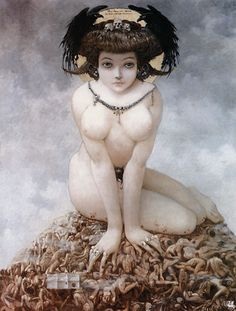 Elle - Gustav Adolf Mossa Certainement un de mes tableaux préféré ❤️