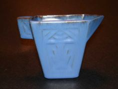 #86-1-DA CATALINA POTTERY INDIAN DECO CREAMER