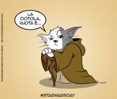 Yoda more on http://www.duecuorieunagatta.net http://facebook.com/duecuorieunagatta
