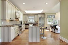 #Kitchen Idea of the Day: Antique White Kitchen Cabinets.