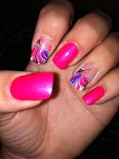 Colorful, pretty, unique finger nails & designs!