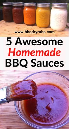 Try one of these delicious homemade BBQ sauce recipes – there is a one suitable for every type of grilled meat by dmsomerville Read Homemade Bbq Sauce Recipe, Barbecue Sauce Recipes, Grilling Recipes, Bbq Sauces, Bbq Sauce Recipe For Ribs, Memphis Bbq Sauce Recipe, Honey Barbeque Sauce, Home Made Bbq Sauce, Easy Bbq Sauce