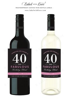 70th birthday wine bottle labels custom milestone birthday wine