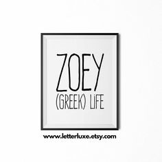 Zoey Name Meaning Art Printable Baby by LetterLuxePrintables