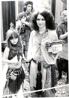vintagebellydance:    A young Suhaila and Mish-Mish from Bal Anat, the 70's. I adore Mish-Mish's top here - I've seen a few other Bal Anat dancers wear a similar style in other photos from the era. It's one of my dream projects. Historically accurate? Meh.   But it's pretty, it's lightweight and I think it would flatter a variety of body types. Better than the midriff bearing peasant tops