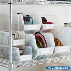 Our Utility Stackable Plastic Bins are modular, stackable, versatile, durable and affordable. Use them in your home for storing everything from blocks and small toys to tools and home repair supplies. Stack several to utilize vertical space. Made from industry grade plastic, they also have clear adjustable dividers (sold separately). Small Space Organization, Storage Organization, Plastic Bins, Container Store, Home Repair, Dividers, Your Space, Magazine Rack, Small Spaces
