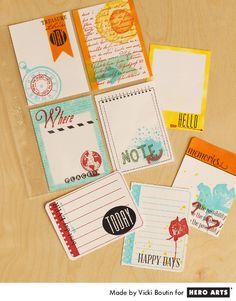 Hero Arts Cardmaking Idea: Journaling Cards