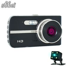 sbhei Dual Lens Car DVR Camera Full HD 1080P Video with Rear view Auto Registrator Digital Video Recorder Camcorder -*- AliExpress Affiliate's buyable pin. Click the VISIT button to find out more on www.aliexpress.com #SurveillanceCameras