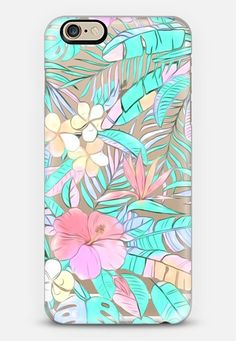 Pastel Island Hibiscus on transparent iPhone 6s case by Micklyn Le Feuvre | Casetify