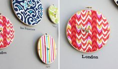 Hoop, There It Is! How to Turn an Embroidery Hoop into a Clock by Lauren Weems for Brit+Co Diy Wall Decor, Decor Crafts, Diy And Crafts, Art Crafts, Embroidery Art, Machine Embroidery, Embroidery Designs, Embroidery Hoops, Alphabet Style
