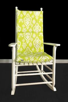 Lime Green Indian Style Rocking Chair Cushion Cover | affordable, designer, custom, handmade, trendy, fashionable, locally made, high quality Ikea Kids Room, Rocking Chair Cushions, Chair Cushion Covers, Kids Room Organization, Kids Room Design, Slipcovers For Chairs, Lime, Room Decor, Lowes Coupon