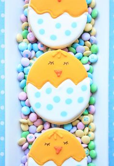 Spring Chick Cookies by Munchkin Munchies.