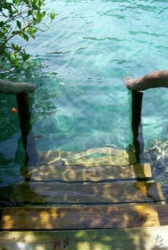 Funny pictures about Stepping into crystal clear water. Oh, and cool pics about Stepping into crystal clear water. Also, Stepping into crystal clear water. The Places Youll Go, Places To See, Crystal Clear Water, Am Meer, Belle Photo, The Great Outdoors, Beautiful Places, Beautiful Stairs, Beautiful Beautiful