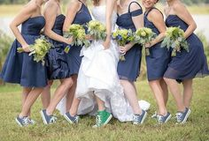 Sweet wedding inspired by green Converse and chalkboards by Homeworks Video Productions.