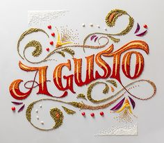 "Panco Sassano (Graphic Designer/Illustrator), Anna Keville Joyce (Food Stylist/Illustrator), and Agustín Nieto (Photographer) team up to create a new, interdisciplinary food art and design project that incorporates various techniques of typography, food styling, and the illustrative Argentine art form of ""fileteado"". 