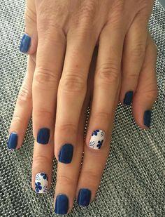 Best Nail Art Designs, Nail Designs Spring, Blue Nail Designs, Pedicure Designs, Fingernail Designs, Spring Design, Spring Nail Art, Spring Nails, Summer Nails