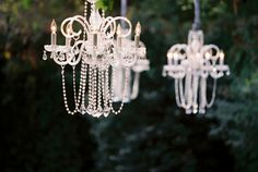 #chandeliers Photography by myrtleandmarjoram.com/ Event Planner by alisonevents.com Floral Design by atelierjoya.com  Read more - http://www.stylemepretty.com/2013/05/22/santa-rosa-wedding-from-myrtle-and-marjoram/