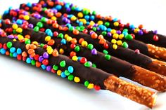 Chocolate Pretzel Rods: DIY Wedding Favors | Intimate Weddings - Small Wedding Blog - DIY Wedding Ideas for Small and Intimate Weddings - Real Small Weddings