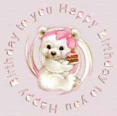 Birthday gif by Victorianangel_album Happy Birthday Gif Images, Happy Birthday Wishes Cake, Birthday Wishes Greetings, Birthday Wishes For Kids, Cute Happy Birthday, Happy Birthday Celebration, Happy Birthday Messages, Birthday Gifs, Beautiful Birthday Quotes