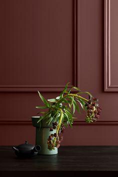 Jotun Lady Pure Color i den mørke, rødbrune farve 2727 Red Marple. Wall Colors, House Colors, Color Inspiration, Interior Inspiration, Jotun Lady, Most Popular Paint Colors, Color Trends 2018, Yellow Photography, Terracota