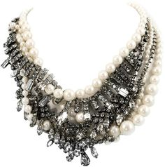 Tom Binns White Pearls in Peril Classic Short Necklace