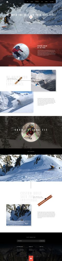 We were tasked with initially designing two separate layouts to help conceptualize the direction of the new Wagner Skis site. Ui design concept by Elegant Seagulls
