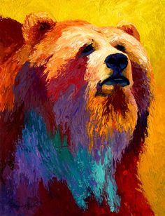 Abstract Grizz Painting by Marion Rose - Abstract Grizz Fine Art Prints and Posters for Sale