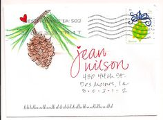 pushing the envelopes: January 2012 Fancy Envelopes, Mail Art Envelopes, Decorated Envelopes, Envelope Lettering, Envelope Art, Envelope Design, Envelope Writing, Creative Lettering, Lettering Ideas