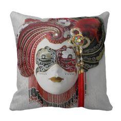 Carnival mask, mardi gras, Venice, masquerade Throw Pillow