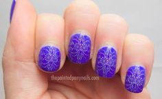 holographic stamped design nail polish