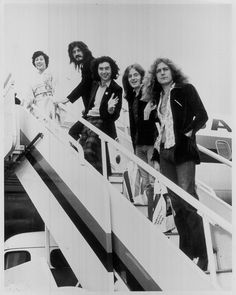 Vintage Led Zeppelin Posing at Heathrow: Rare Iconic Original Photograph