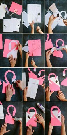 Diy flamingo invite