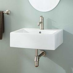 White Wall Mount Sink 20 X 17.5