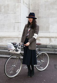 Check out her cute, everyday cycle style (and gingham saddle cover) over on her delicious blog.