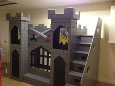 Knights castle bunk bed, see more at www.facebook.con/dreamcraftfurniture
