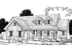 Country House Plan with 1690 Square Feet and 3 Bedrooms from Dream Home Source | House Plan Code DHSW22118