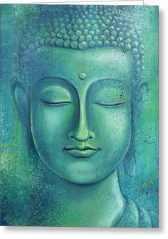 """Live with no sense of 'mine,' not forming attachment to experiences."" ~ The Buddha, Sutta Nipata Art by: Gayle Utter Title: Within the Depths of Silence ♥ lis Buddha Face, Buddha Zen, Buddha Buddhism, Buddhist Art, Budha Painting, Buddha Artwork, Art Asiatique, Canvas Art, Painting Canvas"