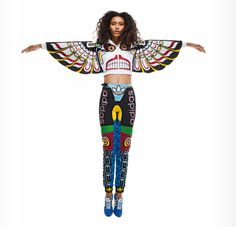 Athletic Wear Inspired by Totem Poles by Adidas Originals